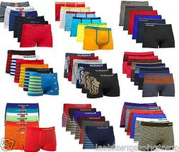 3, 6,12 Mens Microfiber Boxer Briefs Underwear Seamless Comp