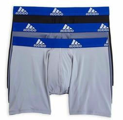 3 Pack Men's Adidas Climalite PERFORMANCE Boxer Briefs Black