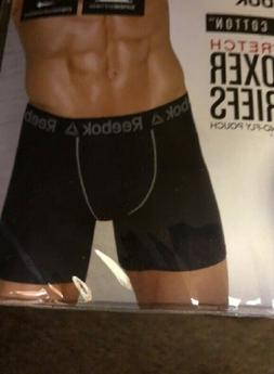 REEBOK 3-PACK MEN'S STRETCH BOXER BRIEFS,CHECK FOR COLOR & S