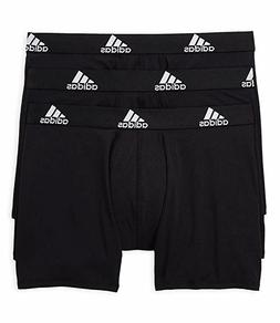 3 Pack Men Adidas Climalite PERFORMANCE Boxer Briefs Black M