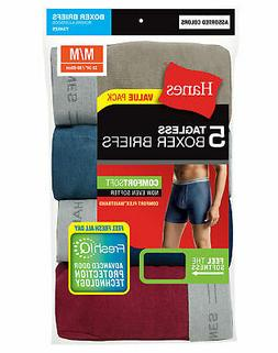 Hanes 5 Pack Men's Underwear TAGLESS Boxer Briefs with Comfo