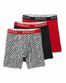 Hanes Boxer Briefs Assorted 3-Pack Ultimate Men's Comfort Fl