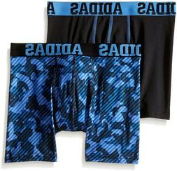Adidas  Boys Black Blue Camo Performance 2Pack Boxer Briefs