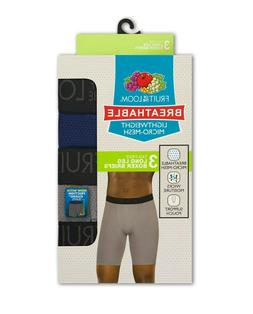 Fruit of the Loom Breathable Boxer Briefs Long Leg Lightweig