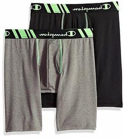 Champion Men's Boxer Briefs Tech Performance Long Leg 2-Pack