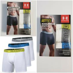 """Under Armour Charged Cotton Stretch Boxerjock 6"""" Boxer Brief"""