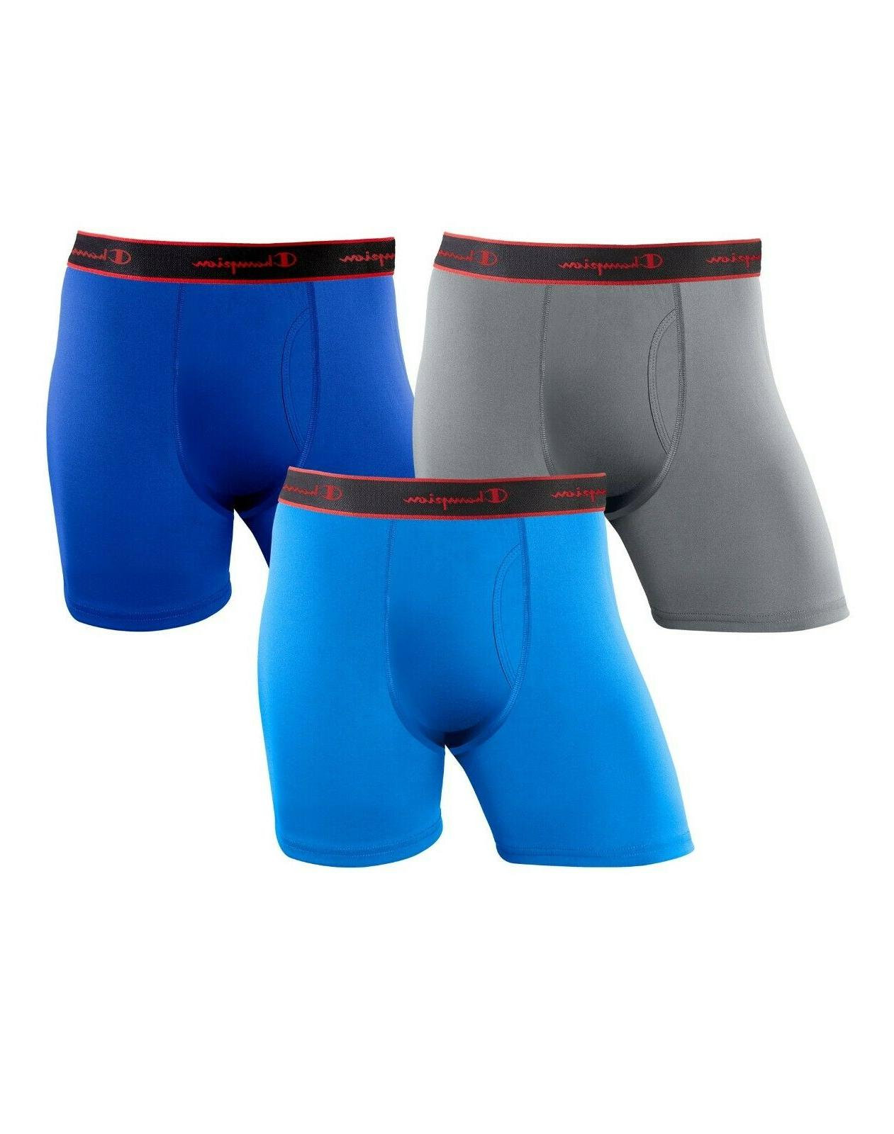 3 pack active performance moisture wicking boxer