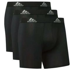Adidas Mens Boxer Briefs 3 Pack Large Black Athletic Fit Per