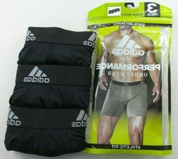 Adidas Men's Boxer Briefs 3 Pack M Black Athletic Fit Perfor