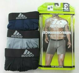 Adidas Mens Boxer Briefs 3 Pack M L Black Blue Grey Athletic